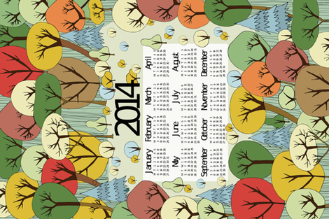 Autumn Wonder 2014 Calendar fabric by babysisterrae on Spoonflower - custom fabric