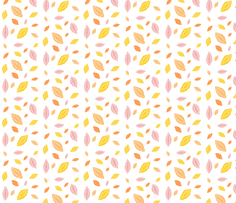 Leaf Pattern fabric by rhicreates on Spoonflower - custom fabric