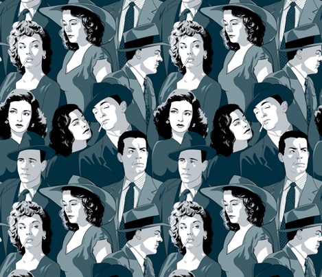 Deadly Dames and Daring Detectives fabric by logan_spector on Spoonflower - custom fabric
