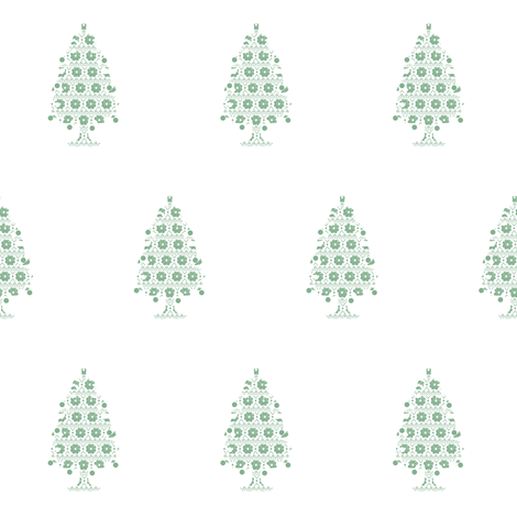 Christmas Tree fabric by aubgerineandpurple on Spoonflower - custom fabric