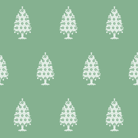 Christmas Tree #green fabric by aubgerineandpurple on Spoonflower - custom fabric
