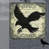 Ravens at Dusk Cheater Quilt - Paneli Lower left_2x18