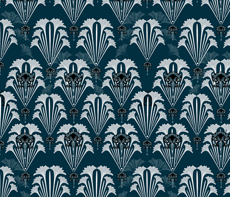 FILM NOIR-i-jessica fabric by i-jessicajordan on Spoonflower - custom fabric