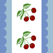 french blue border cherries