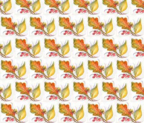 Autumn Leaves fabric by audettesa on Spoonflower - custom fabric