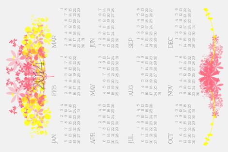 Calendar_2014_tea_towel fabric by kate_clarke_design on Spoonflower - custom fabric