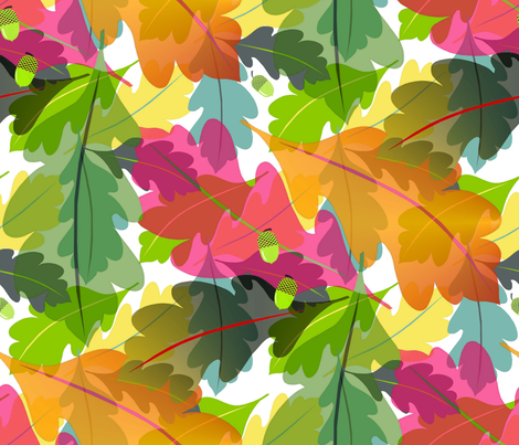 Fall leaves fabric by alfabesi on Spoonflower - custom fabric