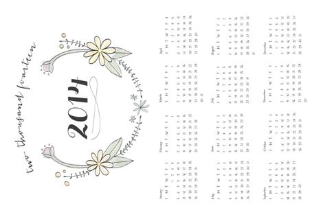 2014 fabric by wysedesigns on Spoonflower - custom fabric