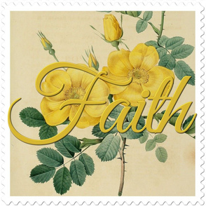 Faith Stamp Flower by Joseph Redoute