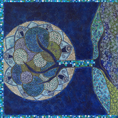 2014 Tea Towel • Moon in Bloom (painting)