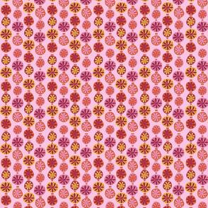 Wild Pink Blooms on Lt pink