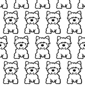Westie dog print - White background