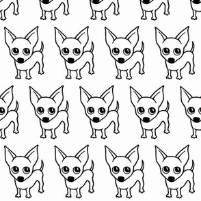 Chihuahua dog print - White background