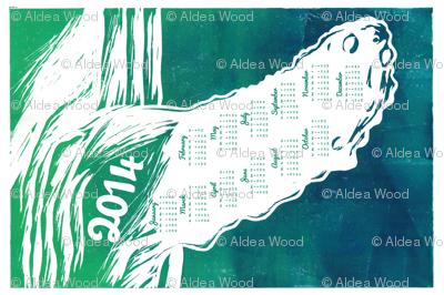 2014 Pectoral Fin Tea Towel Calendar