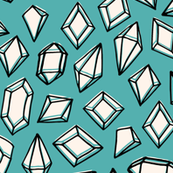 Crystals - Tiffany Blue by Andrea Lauren