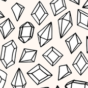 Crystal Gems - Champagne/Black/White by Andrea Lauren