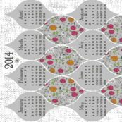 2014 Daisies and Roses Tea Towel