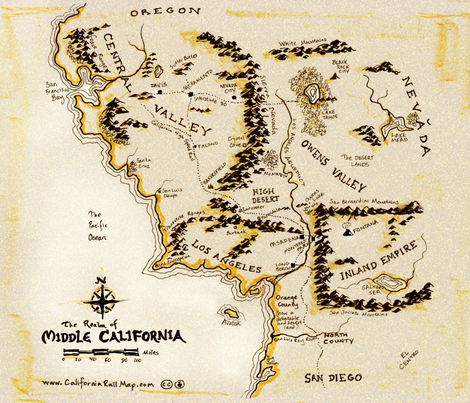 Middle California fabric by firstcultural on Spoonflower - custom fabric
