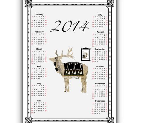 A French Reindeer 2014 calendar