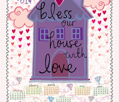 Bless Our House 2014 Calendar