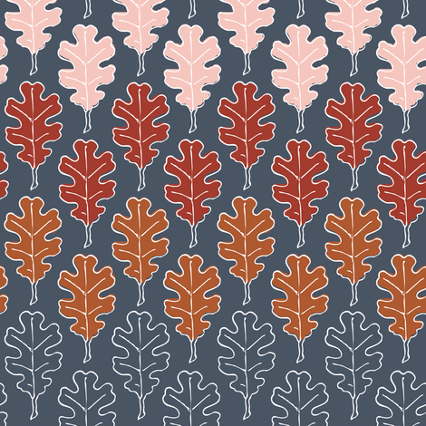 All the leaves are brown, and the sky is grey fabric by nouveau_bohemian on Spoonflower - custom fabric