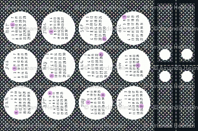 2015 Full Moon Tea Towel Calendar - with bonus bookmarks
