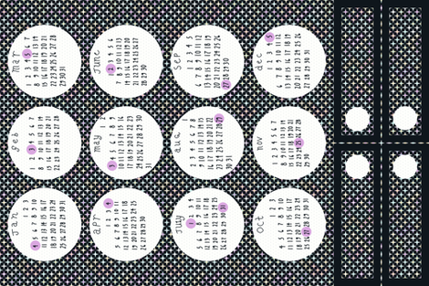 2015 Full Moon Tea Towel Calendar - with bonus bookmarks fabric by mongiesama on Spoonflower - custom fabric