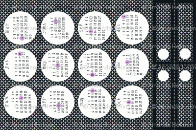 2014 Full Moon Tea Towel Calendar - with bonus bookmarks