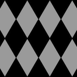 Grey Harlequin ~ Pewter and Blackmail