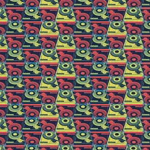 Turntables red and yellow