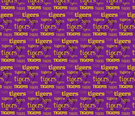 Tigers football fabric by shop70454 on Spoonflower - custom fabric