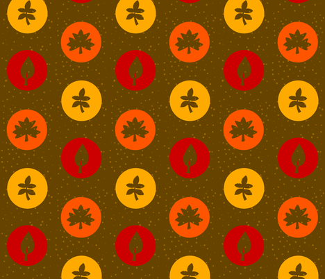 leaves fabric by twistedblossom on Spoonflower - custom fabric