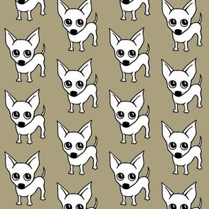 chihuahua dog print - grey