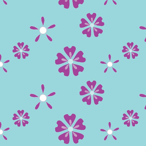 Easy Floral - Purple Blue