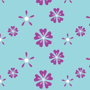 Easy Floral - Purple Blue