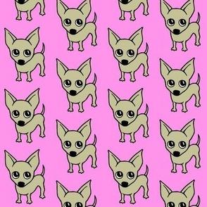 Chihuahua dog print - baby pink