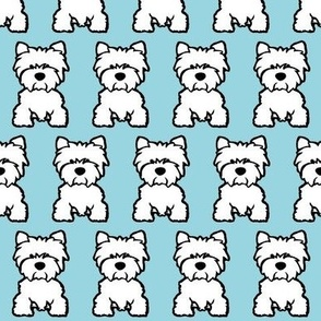 Wastie dog print - baby blue