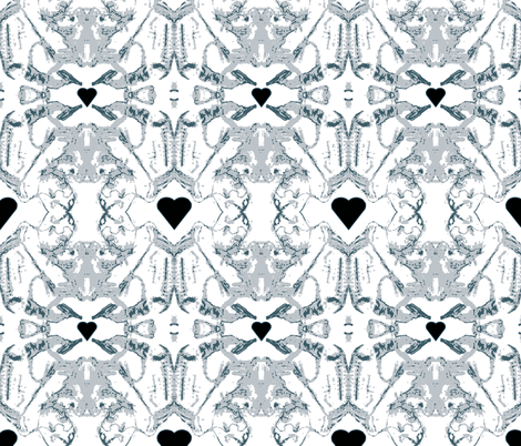 Le Coeur Noir fabric by woodsworks on Spoonflower - custom fabric