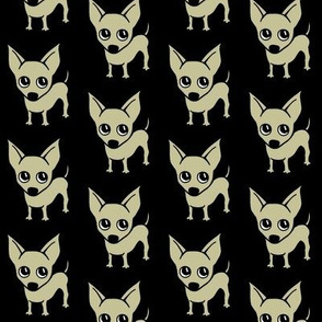 Chihuahua dog print - Black background