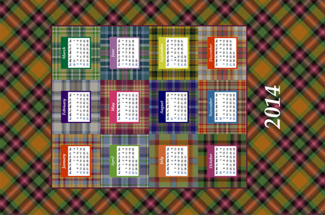 Highland fling! 2014 calendar fabric by moirarae on Spoonflower - custom fabric