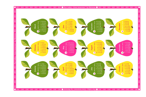 Pear today - Gone tomorrow! 2015 fabric by moirarae on Spoonflower - custom fabric