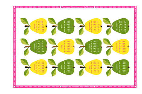 2016 Pear today - Gone tomorrow!  fabric by moirarae on Spoonflower - custom fabric