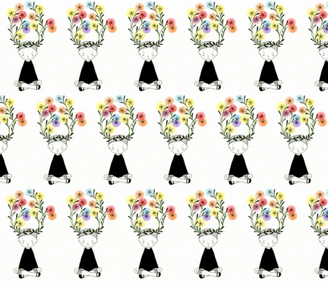 flower crown fabric by misscloverbrown on Spoonflower - custom fabric