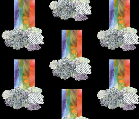 Clouds & Rainbow fabric by kanikamathur on Spoonflower - custom fabric