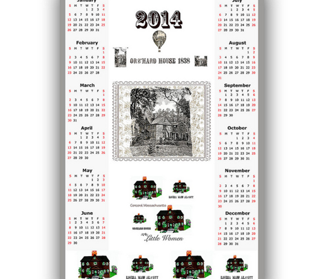 2014 tea towel calendar, Little Women