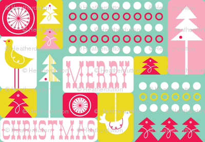 Christmas Collage - Festive Teal