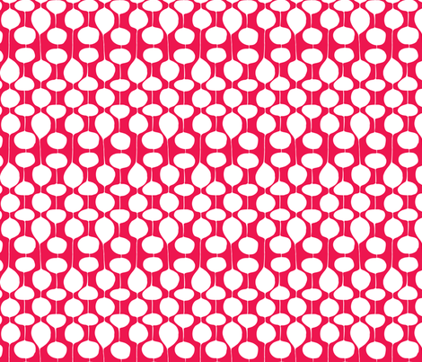 Holiday Bobbles - Festive Red fabric by heatherdutton on Spoonflower - custom fabric