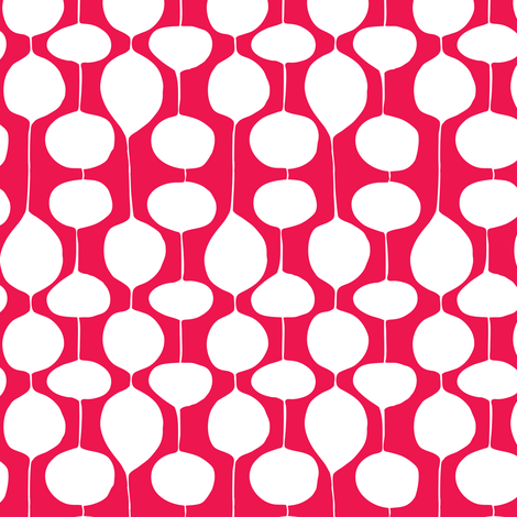 Holiday Bobbles - Abstract Geometric Festive Red fabric by heatherdutton on Spoonflower - custom fabric