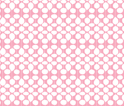 Holiday Bobbles - Festive Pink fabric by heatherdutton on Spoonflower - custom fabric