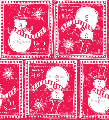 Let It Snow - Festive Red